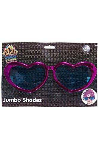 Herzförmige Jumbo-Brille Verschiedenerlei Metallisch, One Size