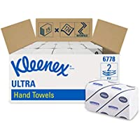 KLEENEX Airflex Ultra Super Soft Hand Towels (product code 6778) Interfolded, 124 white, 3 ply sheets per pack (box contains 15 packs)