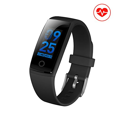 Fitness Tracker, JC Beauty NEW Technology Smart Watch Sport Band IP67 Waterproof with PHYSIOLOGICAL PERIOD REMINDER Heart Rate Monitor Smart Bracelet Wristbands Step Calories Counter (Black)