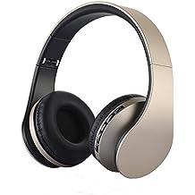 Cuffie Bluetooth, PUGO TOP Wireless pieghevole Cuffie stereo auricolari con