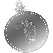 2 x 75mm 'Botella de Perfume' Espejo Decoraciones de Navidad (CB00000266)