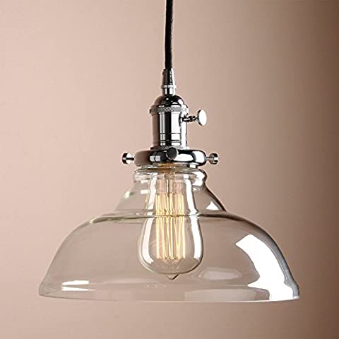 Glighone Vintage Glass Pendant Light Ceiling Lamp Shade Industrial Kitchen