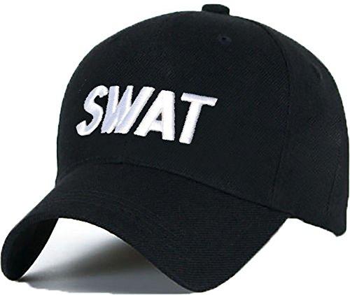 Baseball Mütze Cap Caps SWAT schwarz Snapback with Adjustable Strap BOSS LA BOY YOLO