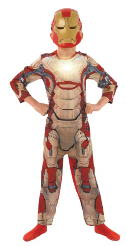 Iron Man 3 Deluxe - Kinder-KostŸm - Medium - 116cm