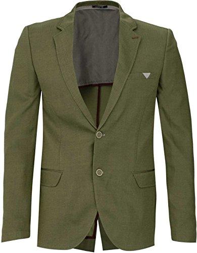 YAKE by S.O.H.O. NEW YORK Sakko Herren Slim Fit - Blazer Herren Sportlich Chelsea, Farbe: Khaki_035, Größe: 50