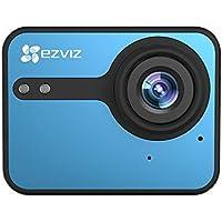 EZVIZ(von Hikvision) S1C 1080p Sport-Action-Kamera, Full HD, 8MP, Wasserdichtes Gehäuse, 140° Weitwinkel, 2-Zoll-Touchscreen, 2,4-GHz-WLAN, BLE 4.0., 1 Akku, Doppelmikrofon, SD-Kartensteckplatz, Ambarella-Videoprozessor
