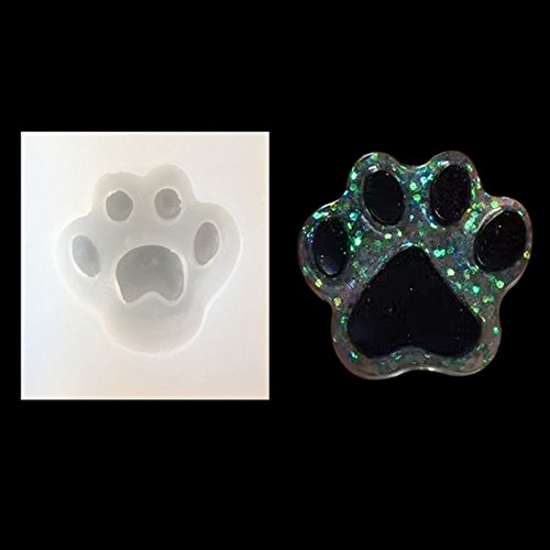 RUNGAO DIY Silicone Mold Silicon Resin Casting Dog Paw Mold Jewelry Mould DIY Craft Making
