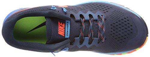 Nike Air Zoom Terra Kiger 4, Scarpe Running Uomo Multicolore (Donner Blau/total Karmesinrot-armory Navy- Rage Blau)