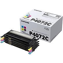 Samsung CLT-P4072C - Pack de 4 tóner, tricolor y negro