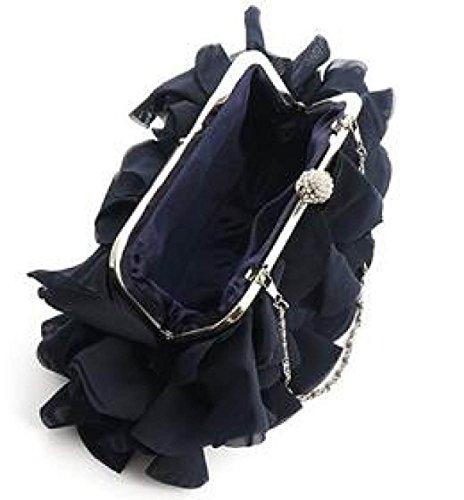 79740f0cf4d60 Damen Bankett Abendkleid Tasche Chiffon Abendtaschen Diamond Bridal Bag  Catwalk Chain Bag Purple ...