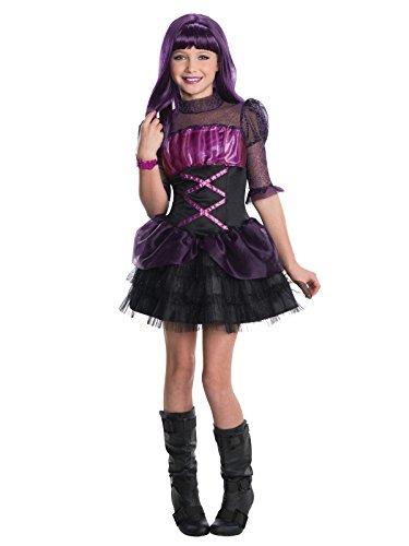 Monster High Elissabat Kinderkostüm Lizenzware schwarz-lila 128/140 (8-10 (Elissabat Kostüm)
