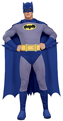 Official Classic 60s Batman Adult Blue Costume which comes in three sizes.