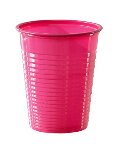 50 pinkfarbene Plastikbecher