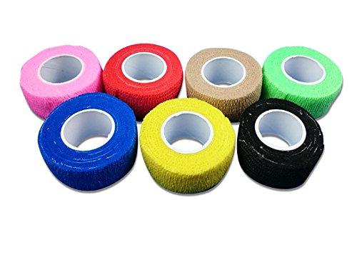 4er Set Bunt LisaCare elastischer Verband | Pflasterverband | elastisches Pflaster ohne Kleber | Fingerpflaster | 4-er Set | unsortierte Farben | 2,5cm x 4,5m dehnbar