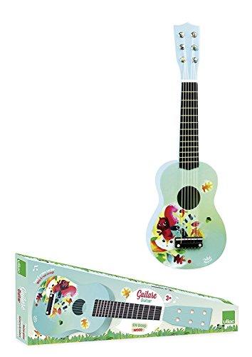 Vilac 8349–Guitarra de Madera Dibujos Sobre el Tema del Bosque