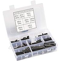 QLOUNI 122 Stück Doppelreihig DIP-IC-Sockel 2.54mm Pitch IC-Sockel-Lötsatz mit 6 Pin,8 Pin,14 Pin,16 Pin,18 Pin,24 Pin,28 Pin,40 Pin