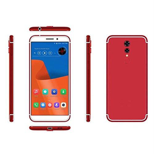 Wawer Doppel-SIM u. 2G / 3G / 4G Netz 1 + 16G entriegelt 4G Smartphone HD androiden Handy für gerades Gespräch ATT TMobile Maße 155.5 * 74 * 8.7mm (Rot) (Prepaid-verizon-handys)