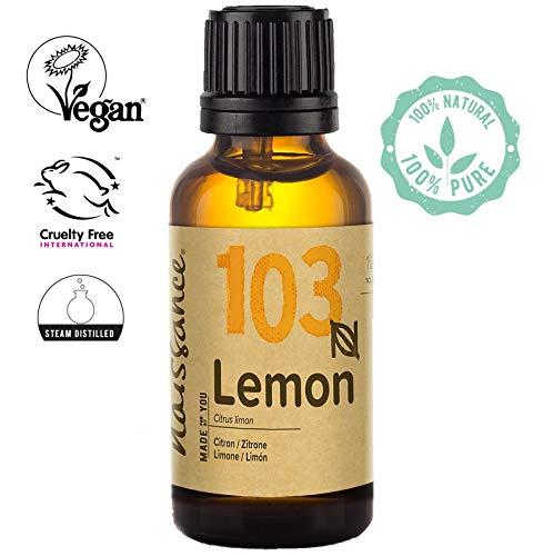 Naissance Huile Essentielle de Citron (n° 103) - 50ml - 100% Pure, Naturelle et distillée à la Vapeur - végan, Non testé sur Les Animaux