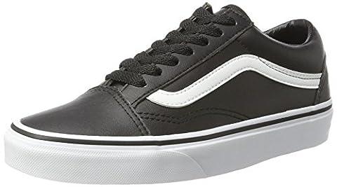 Vans Unisex-Erwachsene Old Skool Leather Sneaker, Schwarz (Classic Tumble/ Black/True