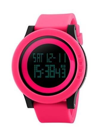 TOPCABIN Armbanduhr Sportuhr Stoppuhr Digital LED Wecker Casual Militär Quarzuhr Alarm Watches Multifunktions Chronograph Datum Gummi-Sport-Armbanduhr für Herren Dame