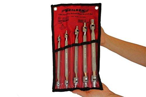 Preisvergleich Produktbild Backen Tools 5-teiliges Sechskant Schlüssel Flexi Schwenkkopf Allen Schraubenschlüssel Set 2, 2.5, 3, 4, 5, 6, 8, 10, 12, 14