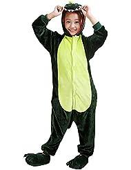 Moollyfox Pijamas Ropa de Dormir Disfraz de Animal Cosplay Para Niños Dinosaurio verde 105