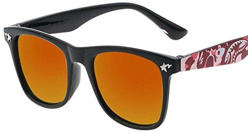 Black Temptation Orange Objektiv Sonnenbrille für Kinder im Alter von 3-12 Jahre Kinder Brillen