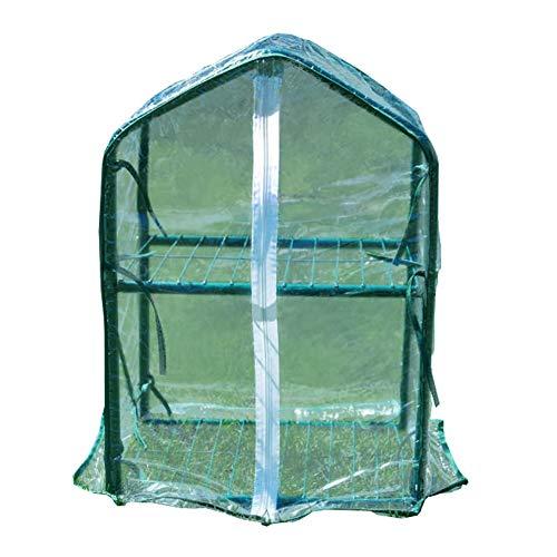 LIANGLIANG-Serre de jardin Jardinage Mini Double Couche Couverture D'isolation des Plantes Résistant À La Pluie Respirant PVC Transmission De La Lumière Résistance À La Déchirure