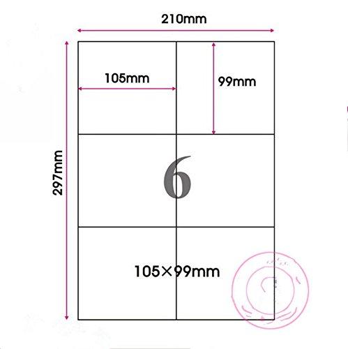 A4 Mattglasbirne Weiß Farbe Kraftpapier Aufkleber Rechteck Rechter Winkel Label Durchschlagpapier...