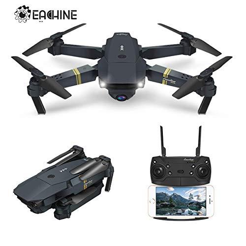 EACHINE Drone Plegable con HD Camara, E58 2.0mp 720p Drone Gran Angular Drone WiFi FPV App