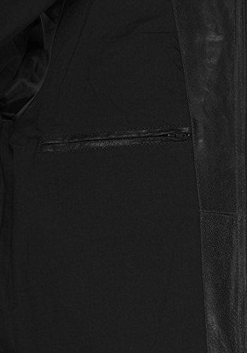 SOLID Mash Herren Lederjacke Echtleder Bikerjacke mit zahlreichen Metall-Details aus 100% Leder, Größe:L, Farbe:Black (9000) - 6