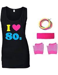 I Love The 80s Ladies Vest & Accessories
