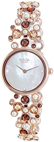Titan Analog Mother Of Pearl Dial Women's Watch-NH95032WM03J