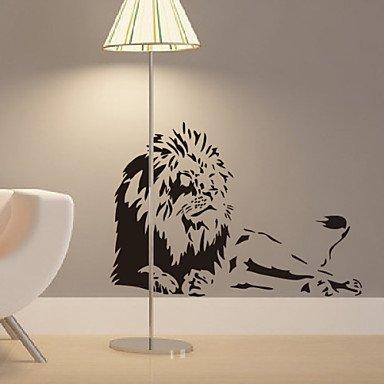 animal-lions-home-en-stickers-muraux-bleu-clair