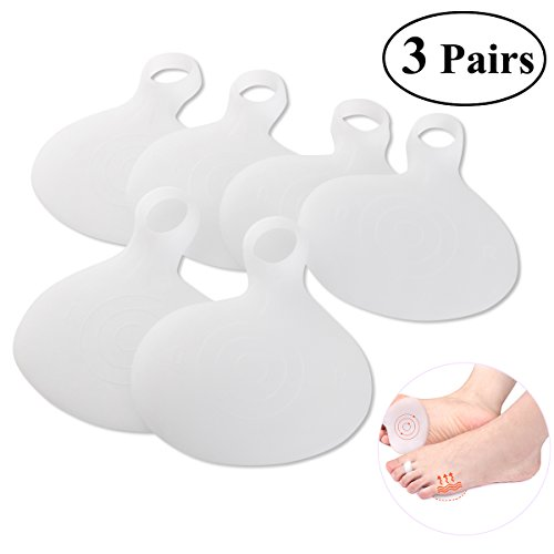 PIXNOR umfassende Ball Fuß Kissen Kit 3 Paar - sofortige Schmerzlinderung,Vorfuß Pads Schuheinlagen Neumeria Pads (Ball-des-fuß-pads)