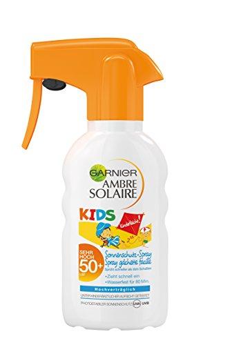 Garnier Ambre Solaire Sonnenschutz Spray Kids / Sonnenspray für Kinder extra wasserfest / LSF 50+, 1er Pack - 200 ml