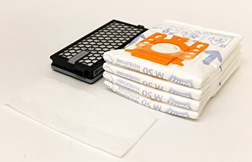 Miele Micro (1 x Miele M50 Mikro POR Filter Taschen, Mikrofilter, Original Miele SF-AA50 Hepa Filter von sparegetti)