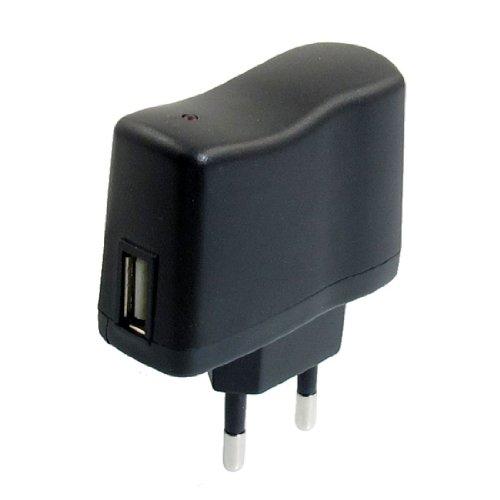 REFURBISHHOUSESODIAL (R) AC 110V-240V zu DC 5V 0.5A 500 mA USB auf EU-Stecker Netzteil Ladegeraet -