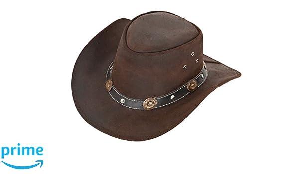 Scippis - Cappello da cowboy - Uomo marrone Large  Amazon.it  Abbigliamento 305f65002b03