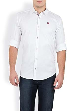 GHPC Men's Cotton Casual Shirt(CS62251_White_42)