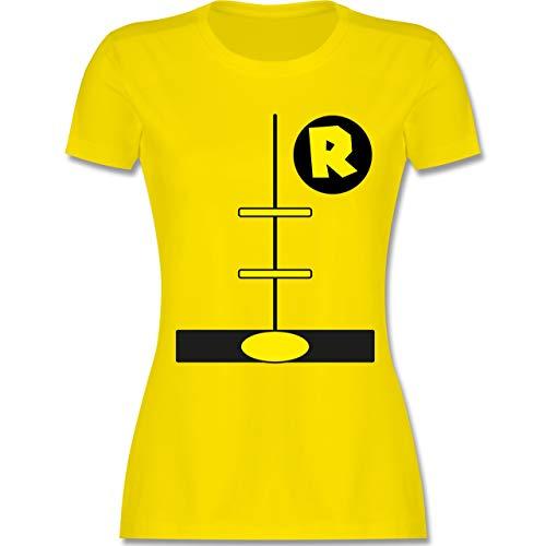 Karneval & Fasching - Superheld Kostüm Kind - XXL - Lemon Gelb - L191 - Damen T-Shirt Rundhals