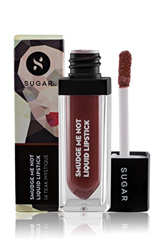 Sugar Smudge Me Not Liquid Lipstick, 14 Teak Mystique (Warm Brown)