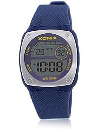 Reloj electrónico digital de múltiples funciones de los ni?os,Plaza jalea led 100 m resina resistente al agua alarma cronómetro hora dual chicas o chicos moda reloj de pulsera-F