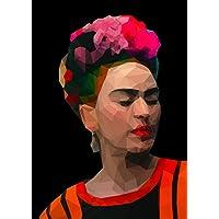 Frida Kahlo Poster, affiche, modèle de géométrie