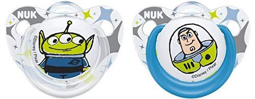NUK 10175228 Disney Pixar Toy Story Trendline Silikon-Schnuller, 0-6 Monate, 2 Stück, blau, blau
