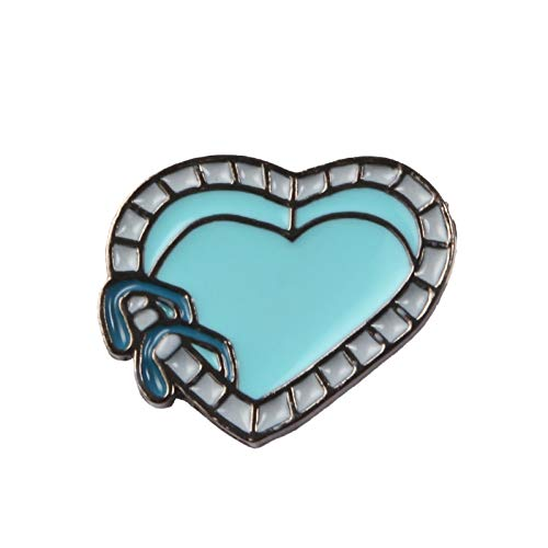 WYFCP Brooch Origami Paper Boat  Fish Tank Heart Swimming Pool Brooches Fish Water Badges Boy Girls Brooch Pin