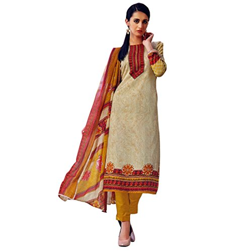 Designer Rich Glace Cotton Printed Salwar Kameez Suit (Ready to Wear)