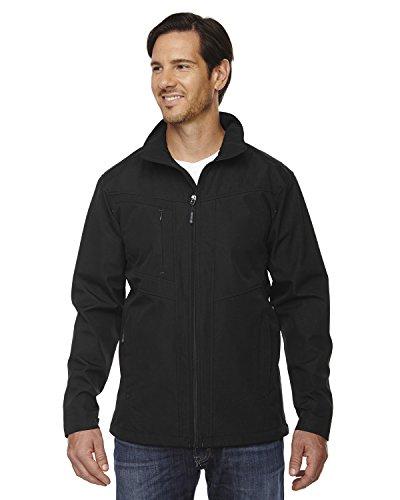 Men's Forecast Three-Layer Light Bonded Travel Soft Shell Jacket BLACK 703 L Black Travel Jacket