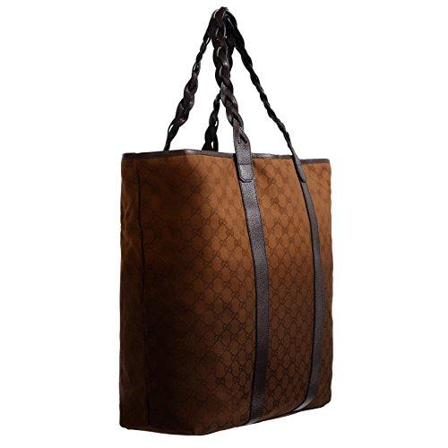 Gucci-Mens-Leather-Trimmed-GG-Print-Large-Tote-Shoulder-Bag-Handbag