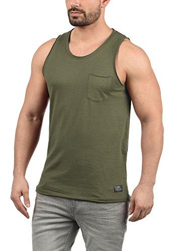 !Solid Andrew Herren Tank Top Mit Rundhalsausschnitt Aus 100% Baumwolle, Größe:L, Farbe:Ivy Green (3797) -